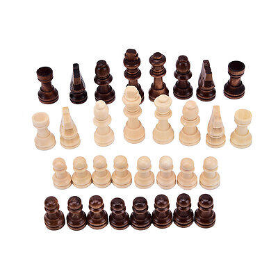 32pcs//set wooden chess king 5.5cm height.total weight about 90g White FH