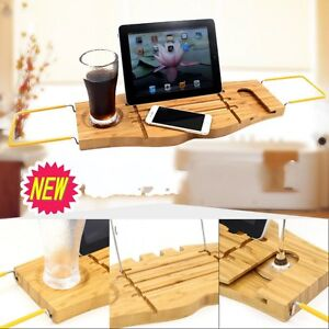 Image Is Loading Bathroom Bamboo Bath Caddy Bathtub Book IPhone Holder