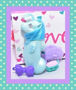 My-Little-Pony-MLP-G1-Vtg-BABY-Pretty-039-n-PEARLY-SEA-PONY-Beachcomber-amp-Comb