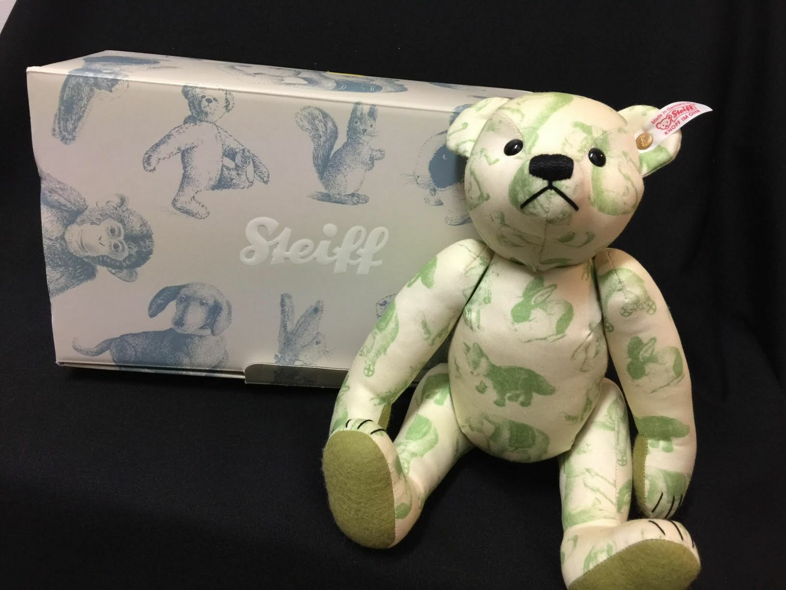 NIB Steiff Classic Collectible verde Signature Posable 12  Teddy Bear 037245 FS