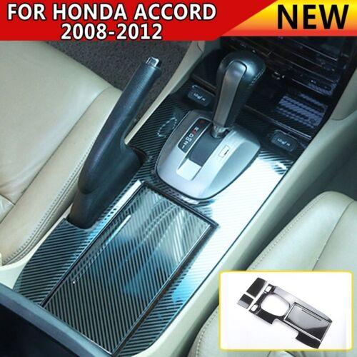 For Honda Accord 2008-2012 Carbon Fiber Interior Gear Shift Box Panel Cover Trim