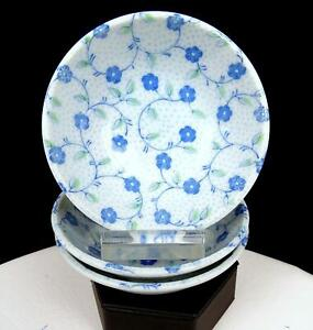 JAPANESE-PORCELAIN-BLUE-FLORAL-AND-DOTS-3-PIECE-4-3-8-034-FRUIT-DESSERT-BOWLS