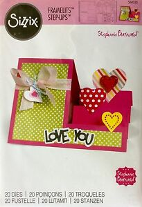 SIZZIX-FRAMELITS-STEP-UPS-20-cutting-dies-HEARTS-CARD-Cuttlebug-compatible