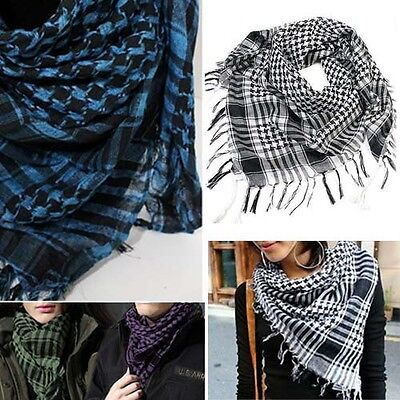 Arab Keffiyeh Army Military Desert Light Scarf Plaid Cover Wrap Shawl Shemagh