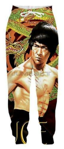New Men//Women Celebrity Bruce Lee 3D Print Drawstring Pants Rap Harlem Trousers