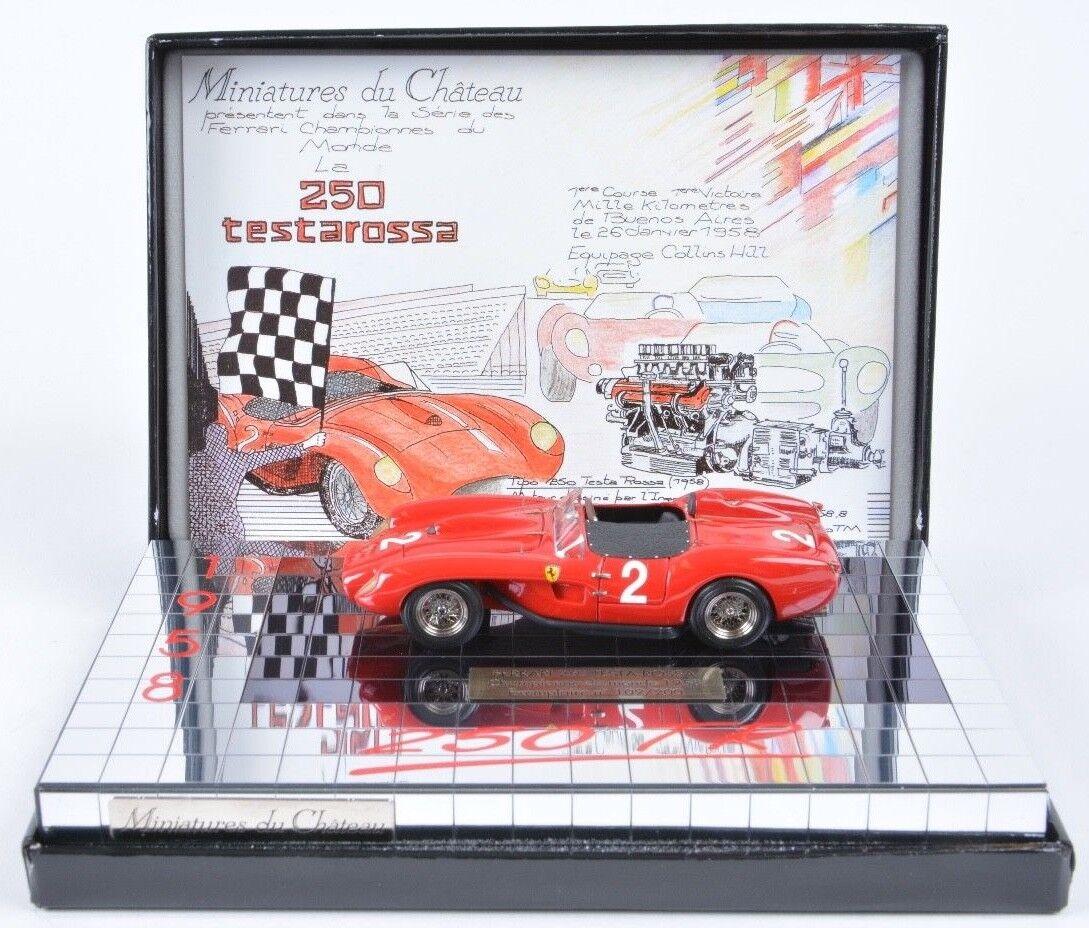 1 43 Miniatures du Château FERRARI 250  TR Argentina 1958   Collins-Hill   n BBR  boutique en ligne