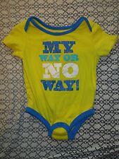 George Baby Boys 6-12 M Onsie (My Way Or No Way!)