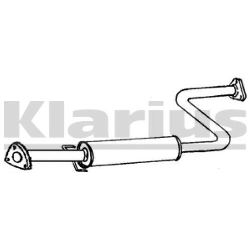 1x KLARIUS OE Quality Replacement Middle Silencer Exhaust For ROVER Petrol