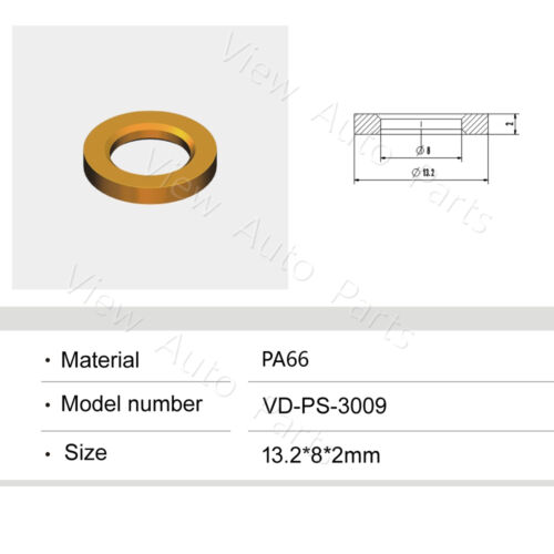 500pcs For BMW Car Fuel injector Plastic Spacer  Size:13.2*8*2mm VD-PS-3009