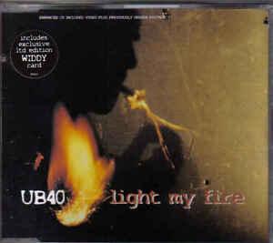 UB-40-Light-my-fire-cd-maxi-single-incl-Widdy-Card