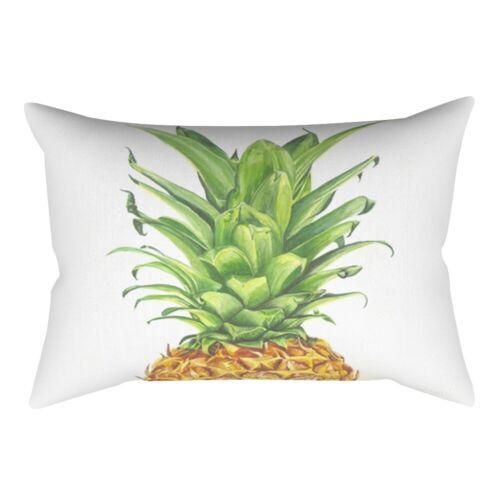 Rectangle Pineapple Pillow Case Sofa Car Waist Cushion Cover Home Office  Decor