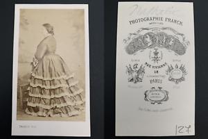 Franck-Paris-Mademoiselle-Nathalie-actrice-Vintage-carte-de-visite-CDV-Za