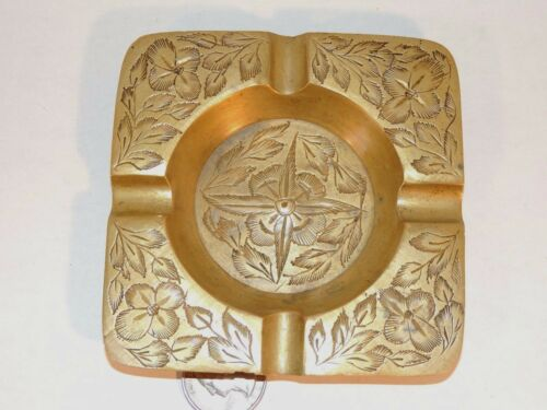 Old India Brass Ashtray 4 inches #505J 8594