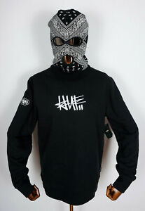 Huf Worldwide Sweatshirt Crewneck Pullover Eric Haze Handstyle 1 Black in M