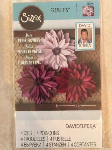 Sizzix Framelits Dies Dahlia 4 Dies 562401 By David Tutera New