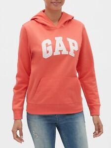 Bnew-Gap-Logo-Fleece-Hoodie-Jacket-Medium-orange-fire-coral