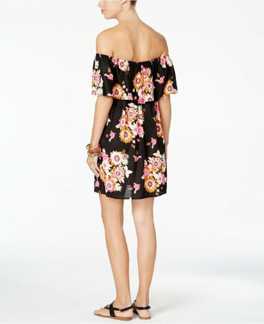 5f7e9b4d5a1 NEW Raviya Floral Off The Shoulder Swimsuit Cover Up Dress S Small