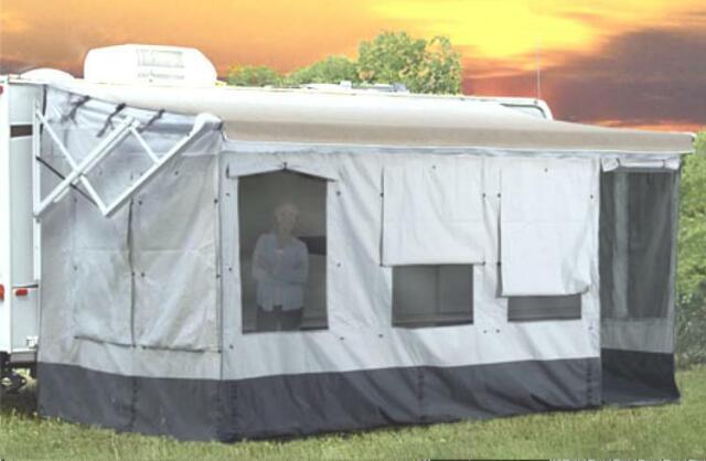 Carefree 211600A Gray with Dark Gray Trim 16-17 Buena Vista RV Awning Room