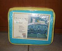 930 Trina Turk Residential Sky Blue King Bedskirt/ Dust Ruffle