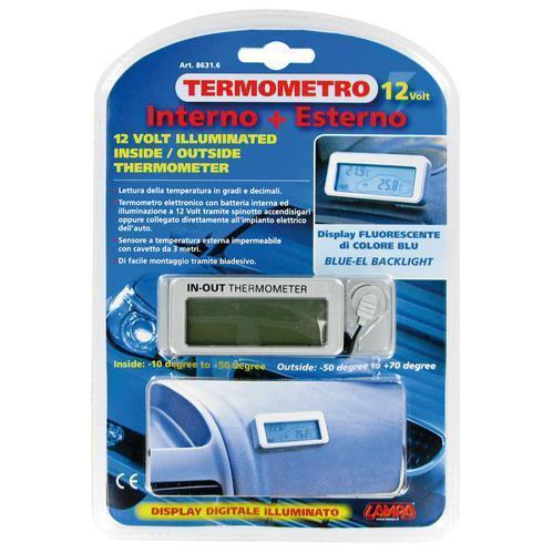 12//24V Termometro interno//esterno
