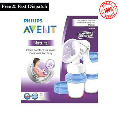 Philips Avent Manual Natural Breast Pump Bpa Free Scf330 13 Ebay