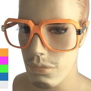 a12deaa1b4d 90s Old School Rapper Glasses 1980 s Run DMC Fashion Eyewear Neon ...