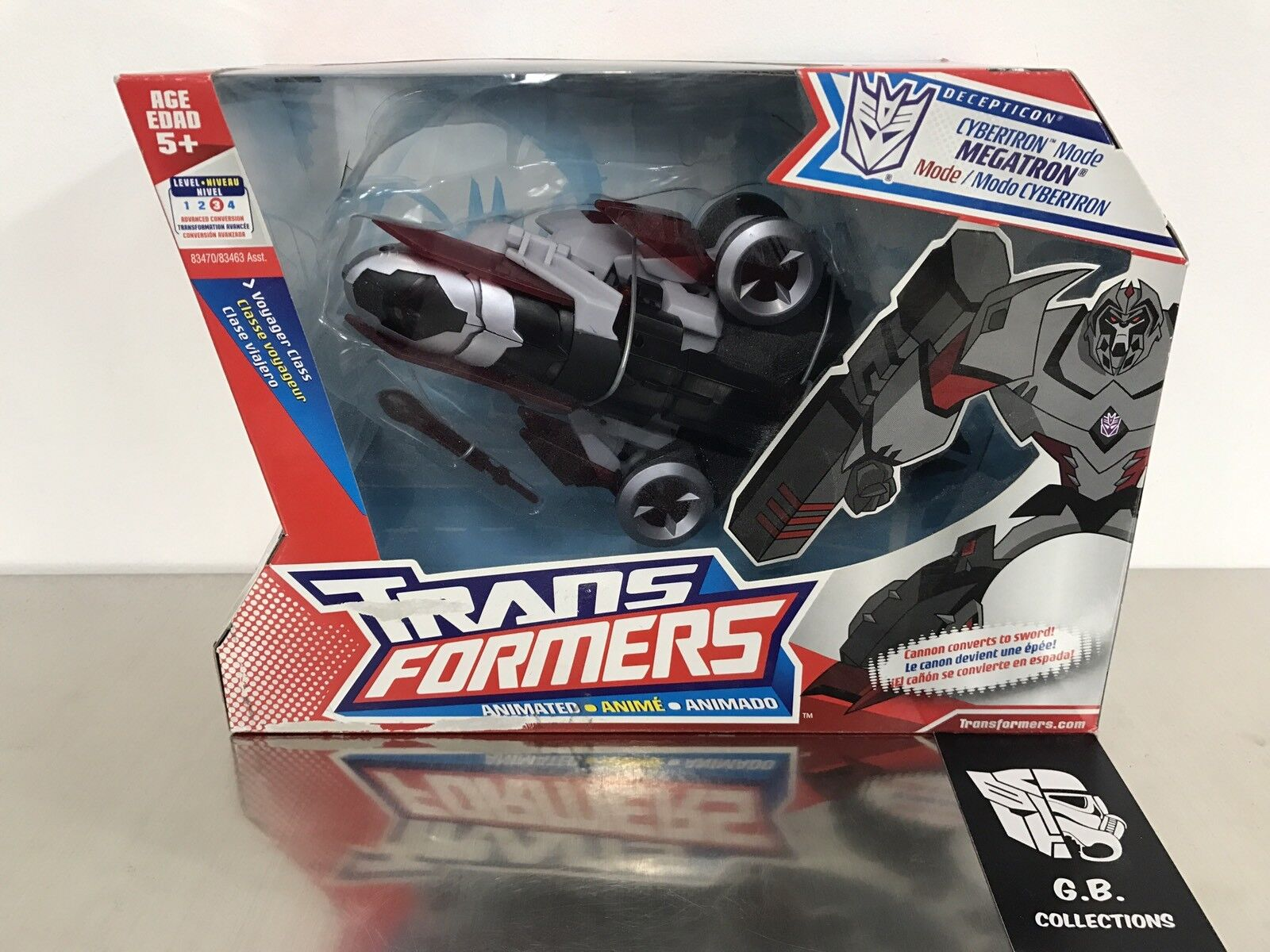Transformers Animated Cybertron Mode Megatron Voyager Class New Sealed