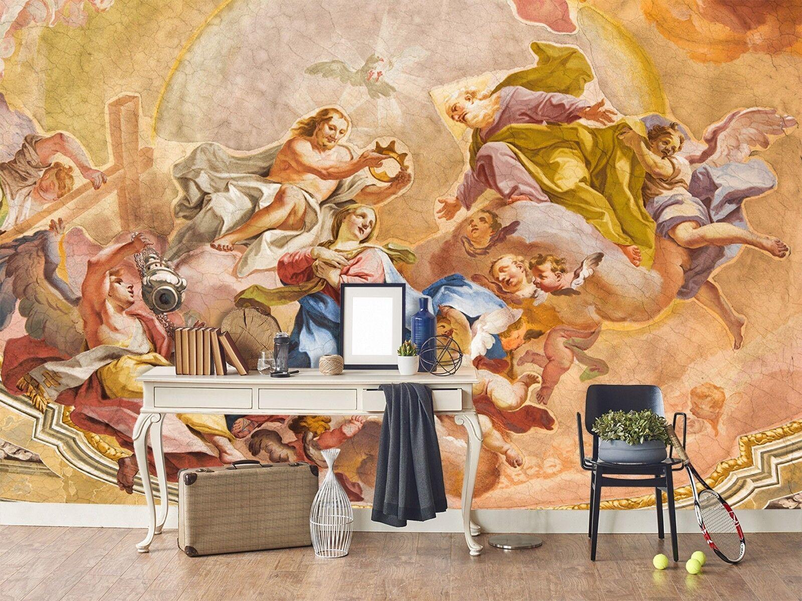 3D Retro Church Painting 3 Wallpaper Mural Print Wall Indoor Wallpaper Murals UK