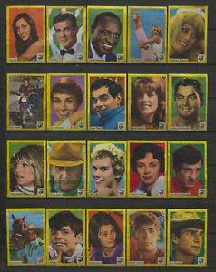 Complete-Set-of-40-Vlinder-Movie-Music-Star-Vintage-1960s-Matchbox-Label-D-Serie