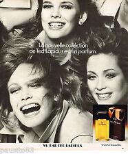 PUBLICITE ADVERTISING 055 1976 TED LAPIDUS  parfum  eau de toilette VU    130515
