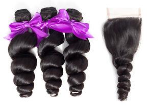 7A-Brazilian-Virgin-Human-Hair-Weft-Loose-Wave-3-Bundles-With-4-4-Lace-Closue