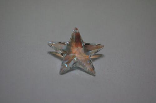 1 X Vtg Swarovski Strass STAR Pendant Bead Prism  #8815 28mm ROSALINE AB etc