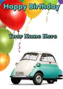 Bmw isetta car birthdayfather a5 personalised greeting card image is loading bmw isetta car birthday father a5 personalised greeting bookmarktalkfo Choice Image