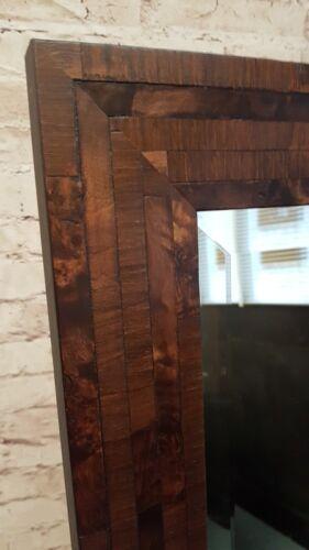HANDCRAFTED BEVELLED MIRROR  VENEER WALNUT MADE IN CUMBRIA
