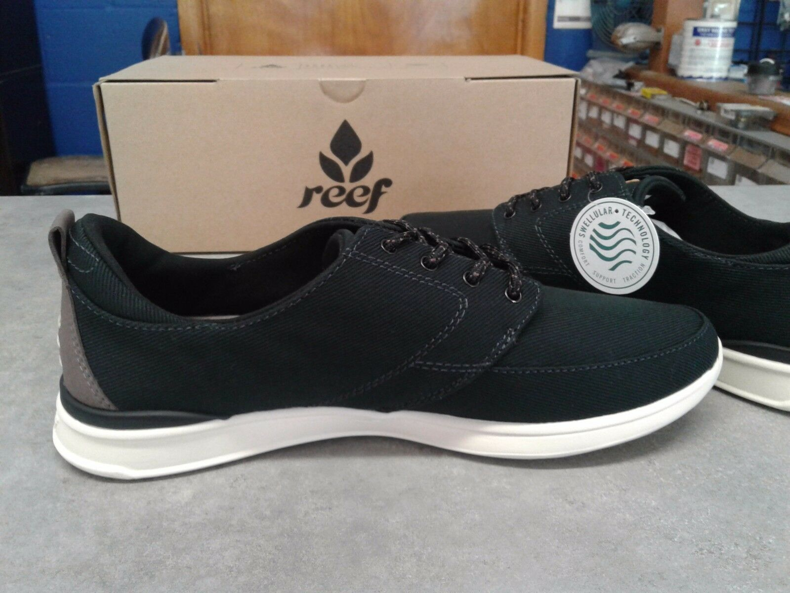 Reef Femmes Rover Basse Taille 9 Noir/Anthracite