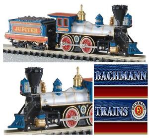 BACHMANN-51174-LOCOMOTIVA-a-VAPORE-JUPITER-CENTRAL-PACIFIC-OLD-WEST-BOX-SCALA-N