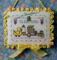 baby Sleeping Sign Cross Stitch Pattern And Silver Charm The Sweetheart Tree