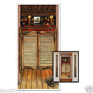 Image is loading Western-Cowboy-Wild-West-Party-Decoration-Prop-SALOON-  sc 1 st  eBay & Western Cowboy Wild West Party Decoration Prop SALOON Wall DOOR ...