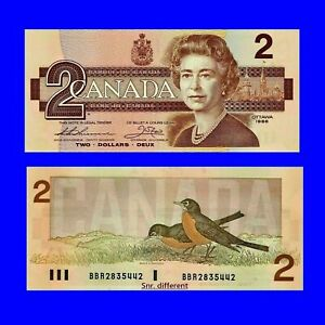 🍀P 94 Canada 2 Dollar 1986 XF- 3324 Low Shipping Combine Free.