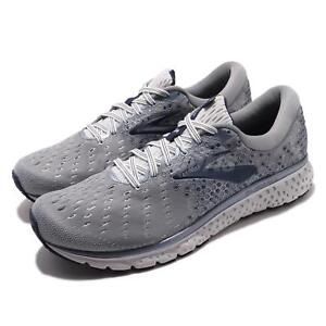 16021040990 Brooks Glycerin 17 2E Wide Grey Navy White Men Running Shoes ...
