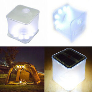 Inflatable LED Light Waterproof Solar Powered Survival Camping Outdoor Lighting
