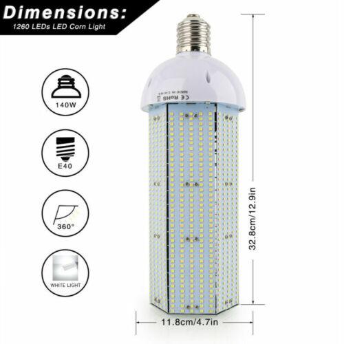 80W 100W 120W 140W LED Corn COB Light Bulb E39 Base 360° MH HID Replacement Lamp