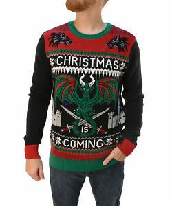 Details About Ugly Christmas Sweater Men S Christmas Is Coming Led Light Up Sweatshirt