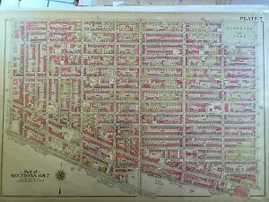 1907 PARK SLOPE CLINTON HILL PROSPECT PARK BROOKLYN NY UNDERHILL 5TH ATLAS MAP