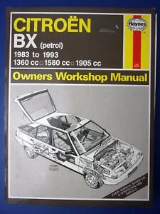 haynes owners workshop manual citroen bx 1983 to 1993 petrol 1712 rh ebay co uk manual de taller citroen bx manual citroen bx pdf