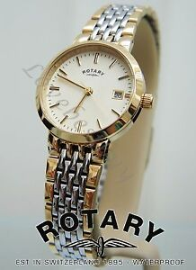 ROTARY-LADIES-SWISS-WATCH-SELF-ADJUSTABLE-BRACELET-GOLD-Pl-WATCH-NEW-RRP-150