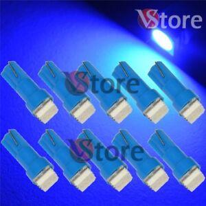 10-LED-T5-SMD-Blu-Lampade-Lampadine-Luci-Posizione-Per-Fari-Angel-Eyes-Quadro-W5