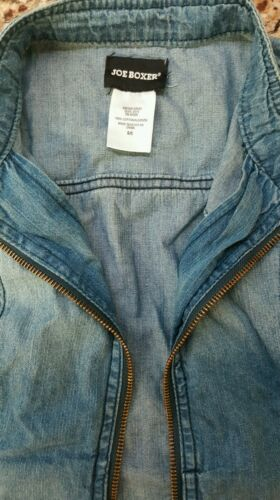 Juniors Denim Jean Vest Joe Boxer Trendy Hip Cute Size S Small NWT New