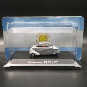 1-43-IXO-Altaya-Messerschmitt-KR200-1957-Silver-Diecast-Models-Limited-Edition