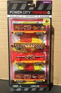Power City Trains CIRCUS FREIGHT Set 4 Cars Series 5 New and SEALED